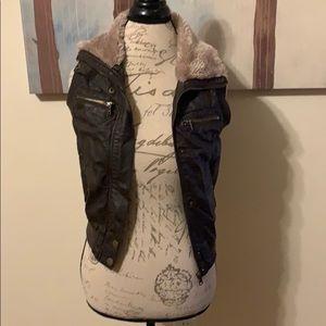 {F21} Faux Leather Vest